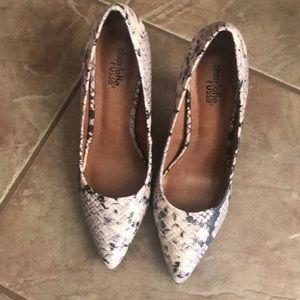 Charlotte Russe snakeskin heels-Sz 7.